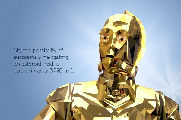 Chances Quotes Wallpaper Star Wars Low Poly Portraits C3po