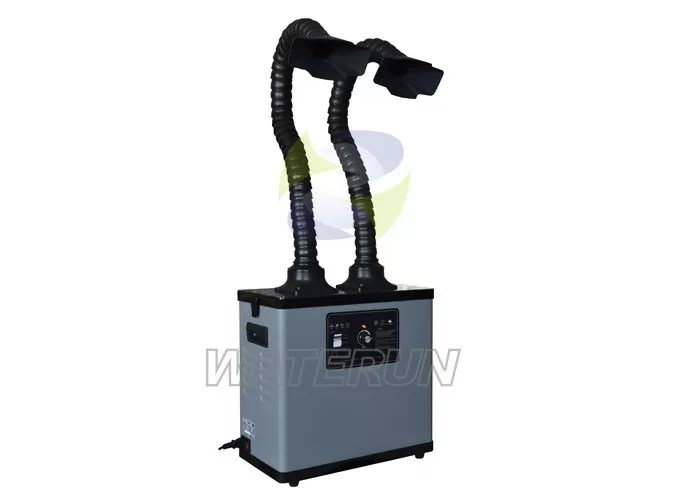 Portable Laser Cutting Industrial Fume Extractor System with Two Fume Extraction Arm 75mm