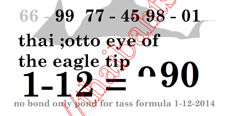 Thai lottery 1-12-2014 results tip
