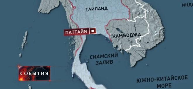 Карта Паттайи и Южно-Китайское море
