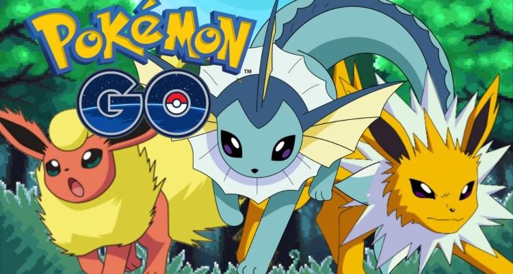 Eevee evoluções Pokemon go