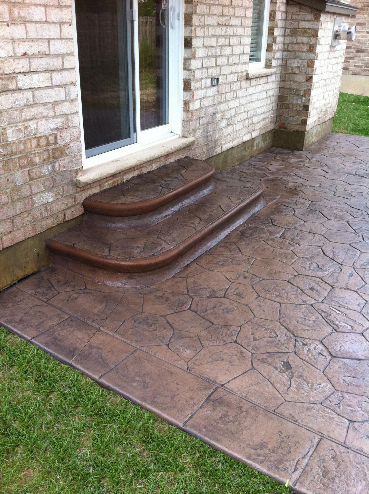How To Build Concrete Patio Steps Thames Valley Decorative Concrete Inc. - Step Bullnose's
