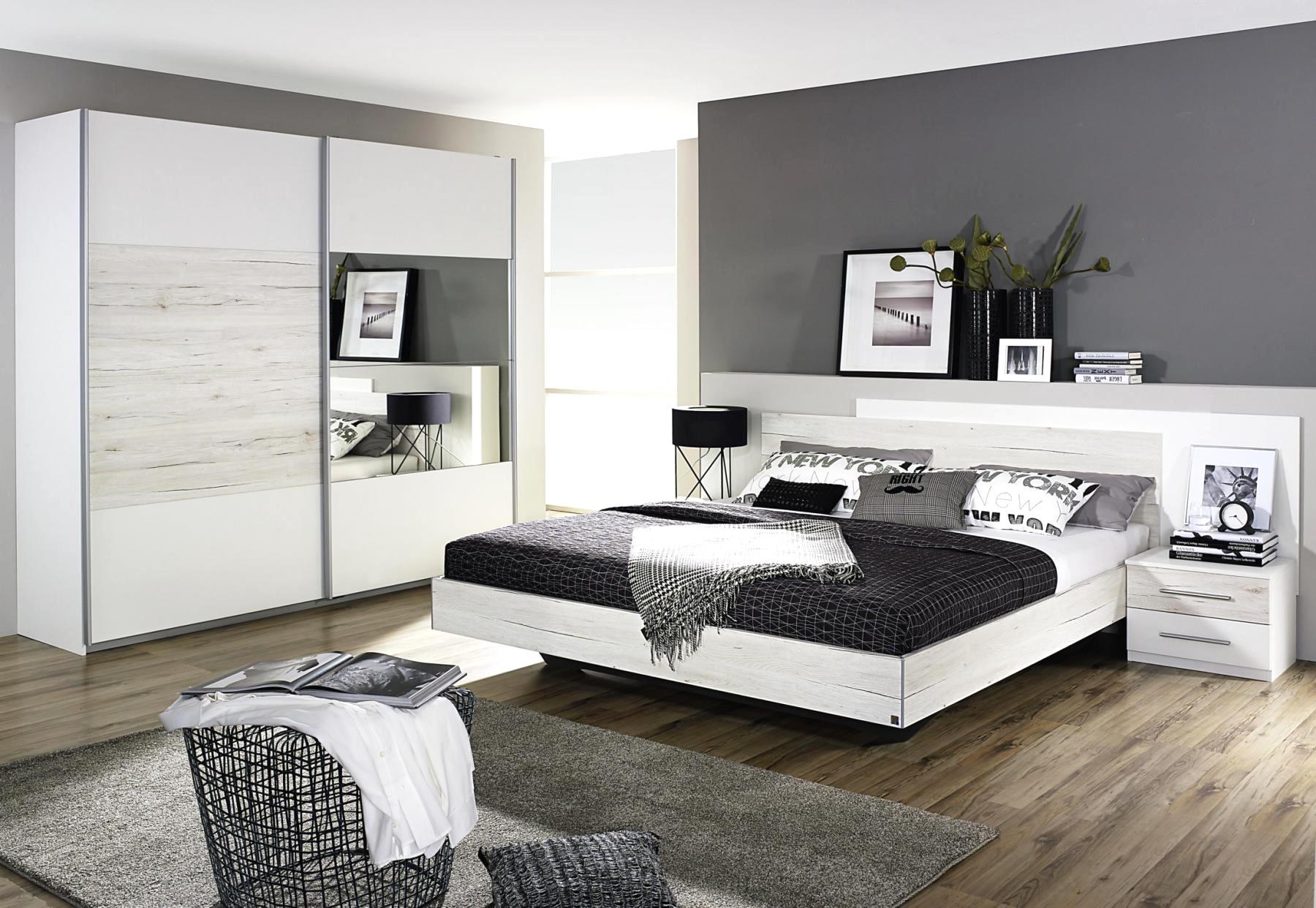 Modern Schlafzimmer Grau Weiß