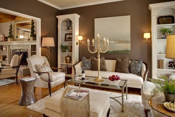 Wohnzimmer Weiß Braun Thandinfo