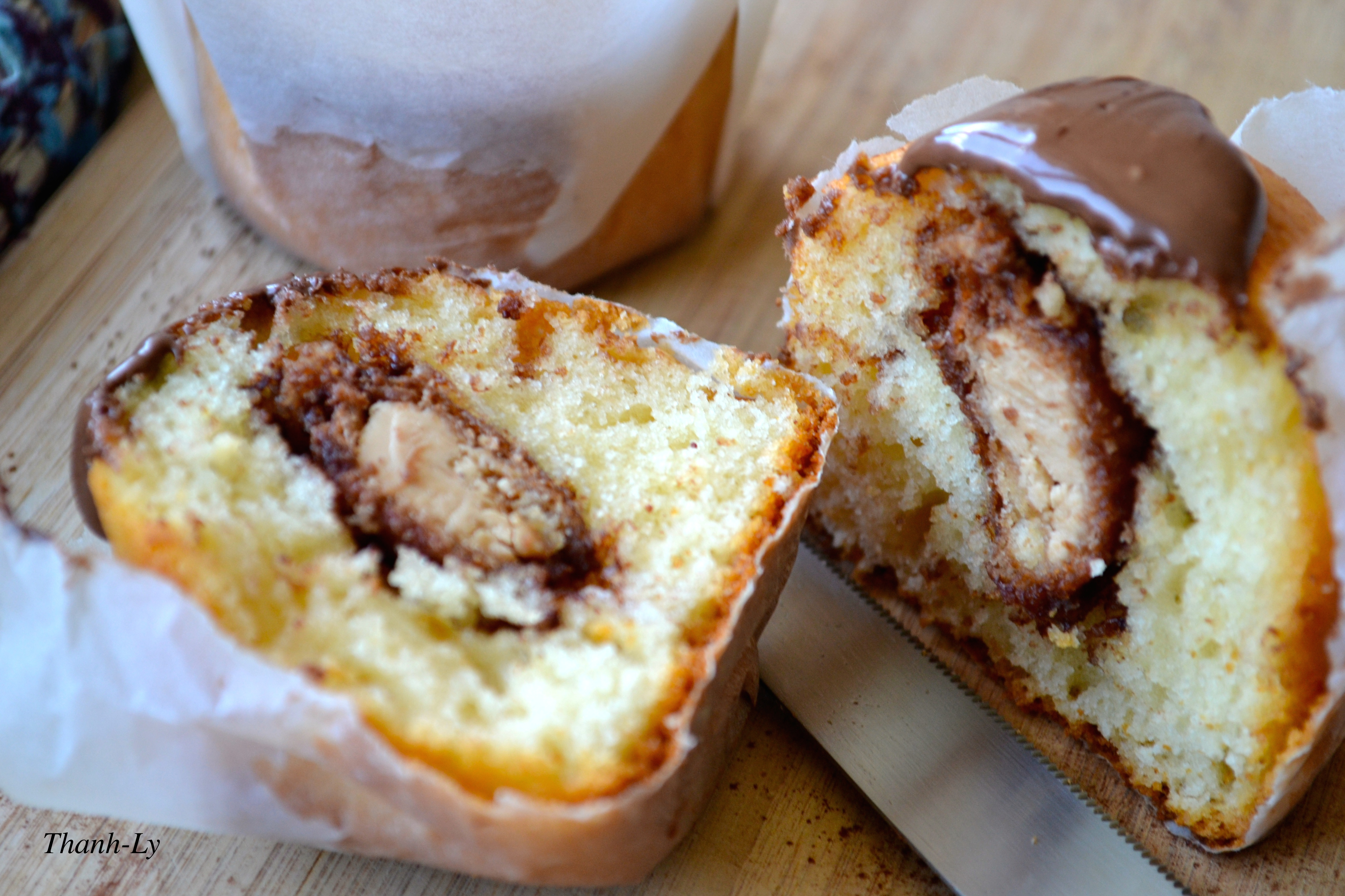 Muffins Kinder Country Muffins Au Yaourt Et Coeur De Kinder Bueno Thanh Ly Cuisine