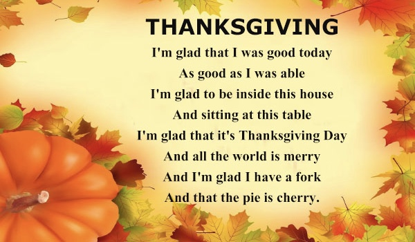 Happy Thanksgiving Poems 2018, Thanksgiving Prayers, Thanksgiving