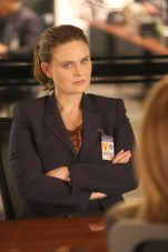 "BONES: Emily Deschanel in the ""The Brother in the Basement"" episode of BONES airing Thursday, Oct. 8 (8:00-9:00 PM ET/PT) on FOX. ©2015 Fox Broadcasting Co. Cr: Patrick McElhenney/FOX"