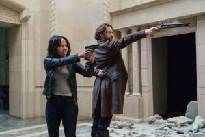 "Can you say BADASSES?! // SLEEPY HOLLOW: L-R: Nicole Beharie and Tom Mison in the ÒDead Men Tell No Tales"" episode of SLEEPY HOLLOW airing Thursday, Oct. 29 (9:00-10PM ET/PT) on FOX. ©2015 Fox Broadcasting Co. Cr: Tina Rowden/FOX."