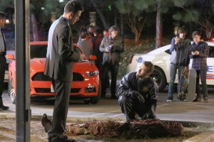 """BONES: L-R: John Boyd and TJ Thyne in the second part of the two-hour """"The Cowboy in the Contest/The Doom in the Boom"""" fall finale episode of BONES airing Thursday, Dec. 10 (8:00-10:00 PM ET/PT) on FOX. ©2015 Fox Broadcasting Co. Cr: Patrick McElhenney/FOX"""