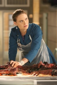 "BONES: Emily Deschanel in the second part of the two-hour ""The Cowboy in the Contest/The Doom in the Boom"" fall finale episode of BONES airing Thursday, Dec. 10 (8:00-10:00 PM ET/PT) on FOX. ©2015 Fox Broadcasting Co. Cr: Patrick McElhenney/FOX"