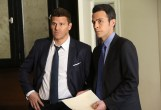 """BONES: L-R: David Boreanaz and John Boyd in the """"The Strike in the Chord"""" episode of BONES airing Thursday, May 19 (8:00-9:00 PM ET/PT) on FOX. ©2016 Fox Broadcasting Co. Cr: Patrick McElhenney/FOX"""