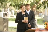 "BONES: L-R: Emily Deschanel and David Boreanaz in the ""The Final Chapter: The Grief and the Girl"" episode of BONES airing Tuesday, Feb. 21 (9:01-10:00 PM ET/PT) on FOX. ©2017 Fox Broadcasting Co. Cr: Patrick McElhenney/FOX"
