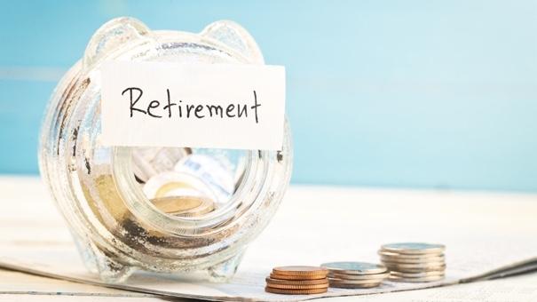 Retirement money in a jar