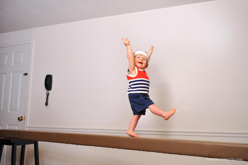 Olympic baby balance beam