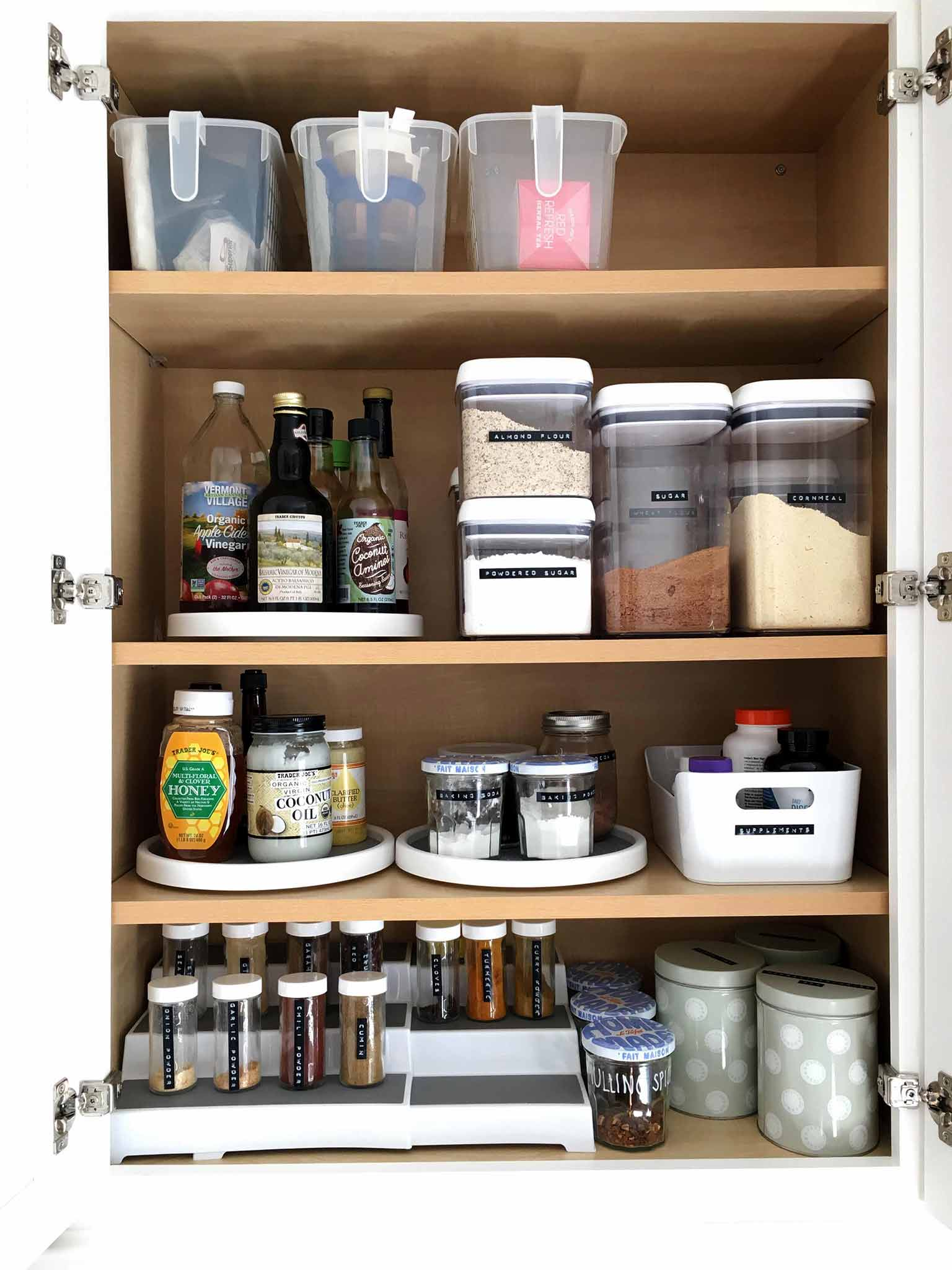 Organize Kitchen Cabinets Efficient Pantry And Food Storage Organization For Small