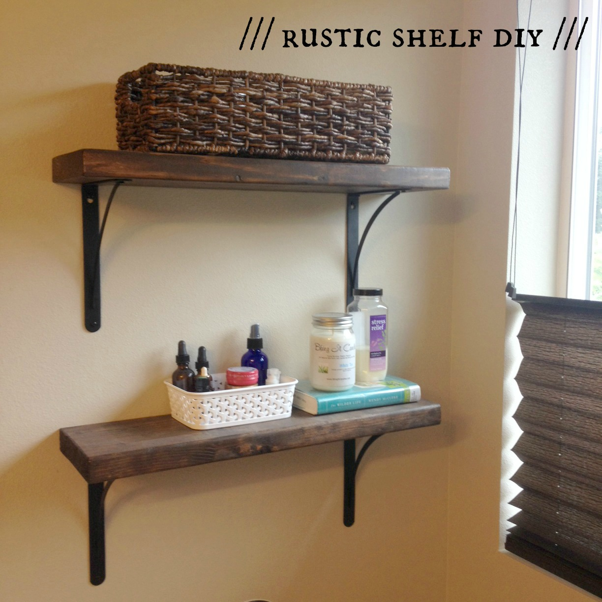 rustic shelf diy