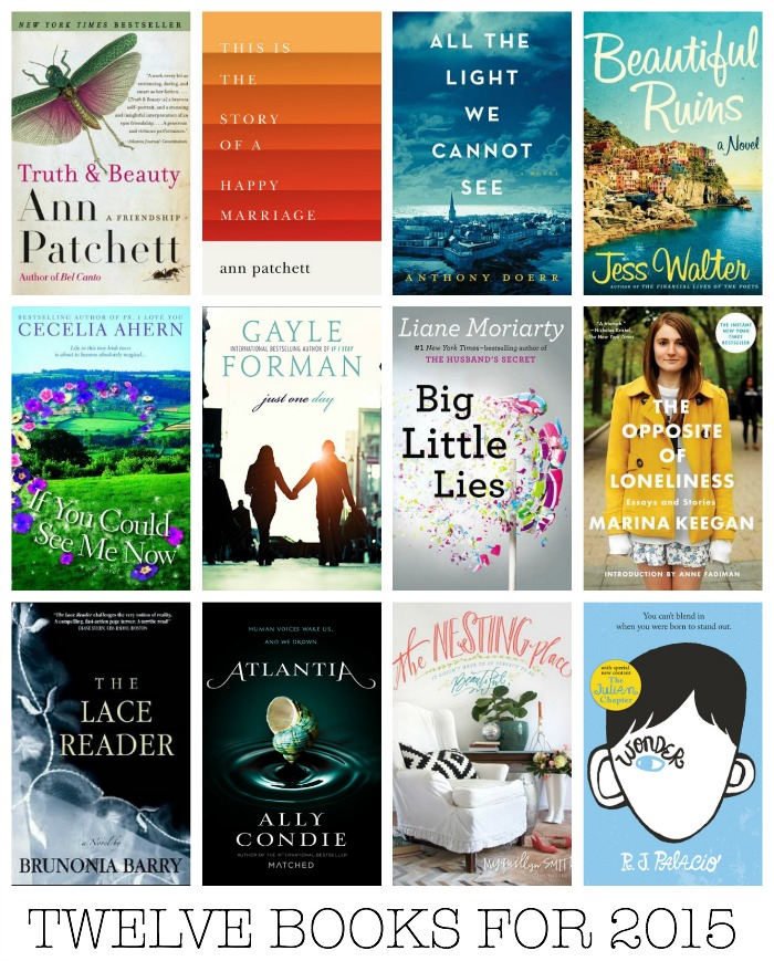 12 BOOKS FOR 2015