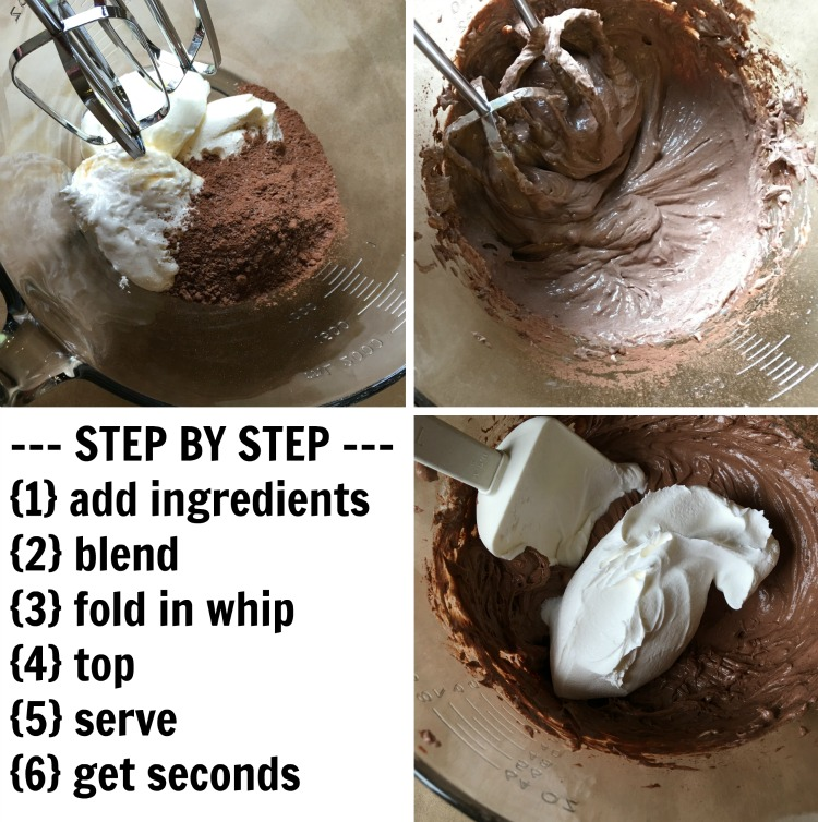 hot chocolate dip steps