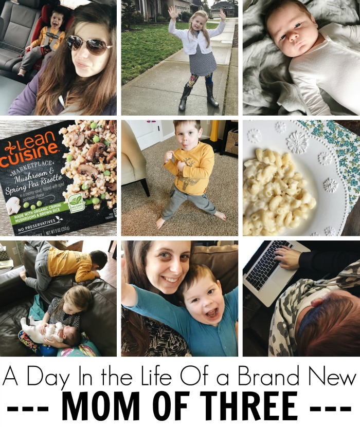 a day in the life of a brand new mom of three