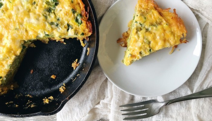 Gluten-Free, Hashbrown Crust Quiche