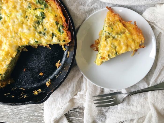 gluten free hasbrown crust quiche