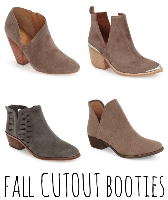 fall cutout booties