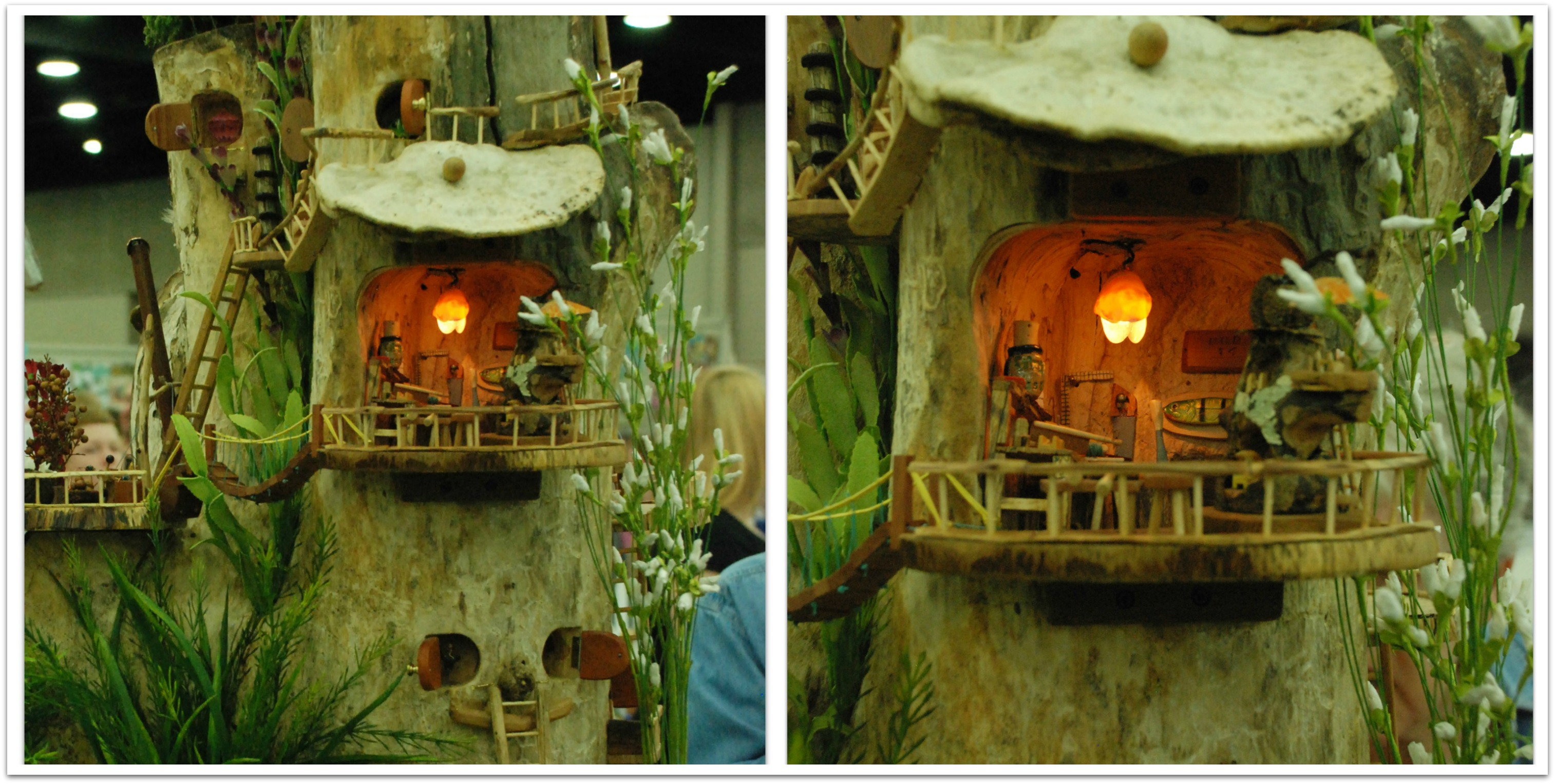 Tree stump fairy house - Tree Stump Fairy House 42