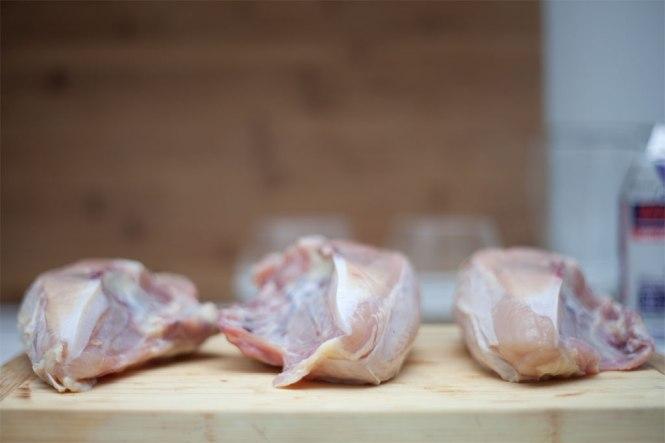 three chicken breasts