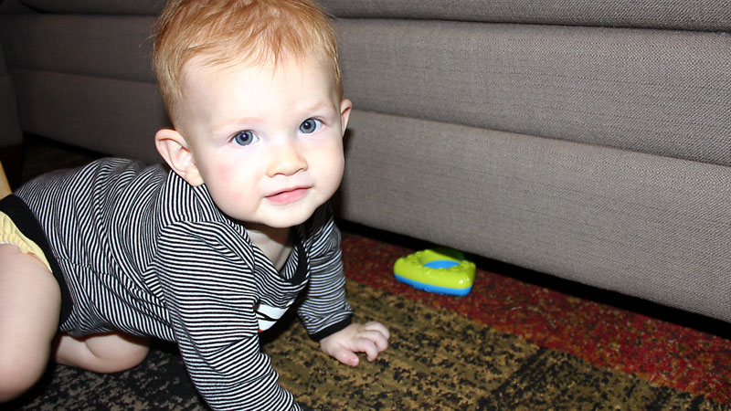 Underneath Furniture is Something We Forget to Baby Proof