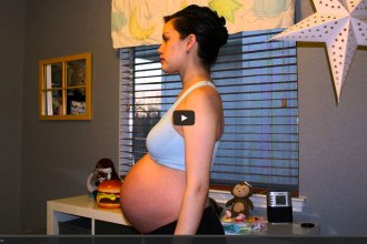 Pregnancy Time Lapse Video from That Poore Baby