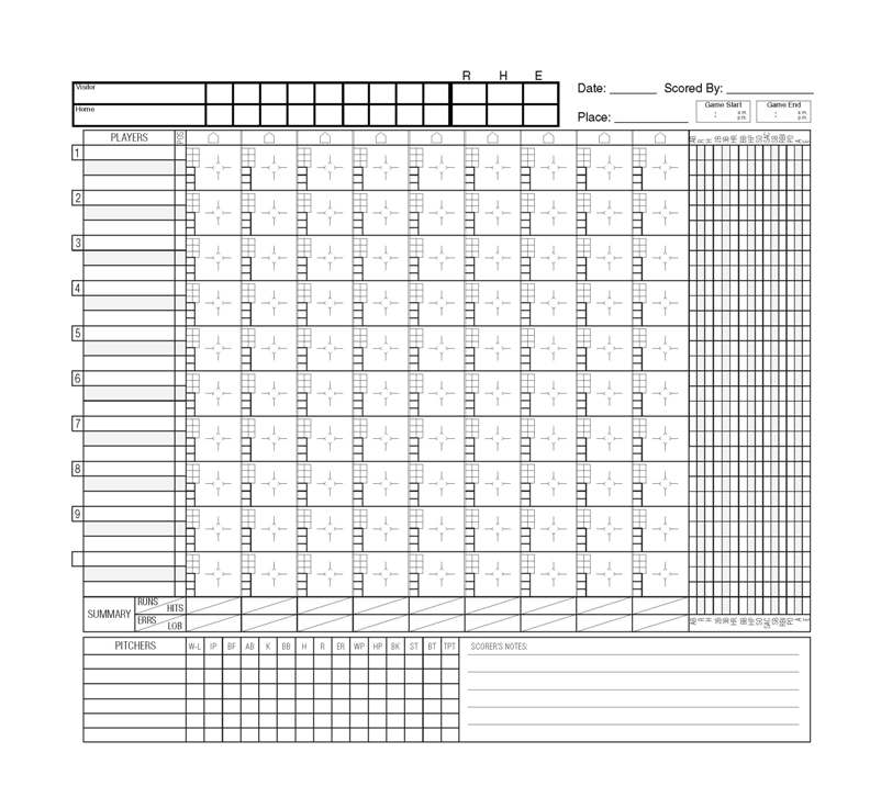online baseball scorecard - Blackdgfitness - euchre score card template