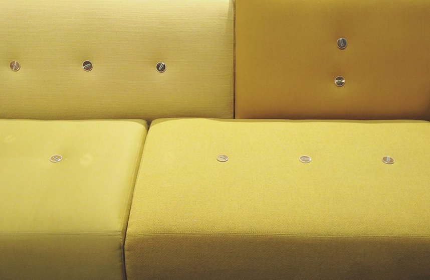So much yellow this season, this new sofa from Vitra is so bright and lovely.