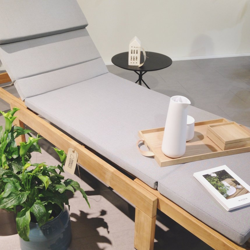 This sun-bed by Skagerak is perfect for a hot day.