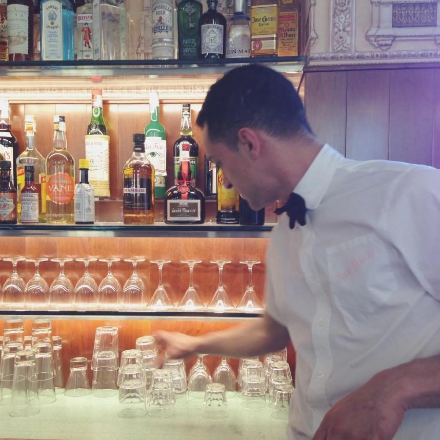 INGRIDESIGN @ wes anderson's bar luce bartender