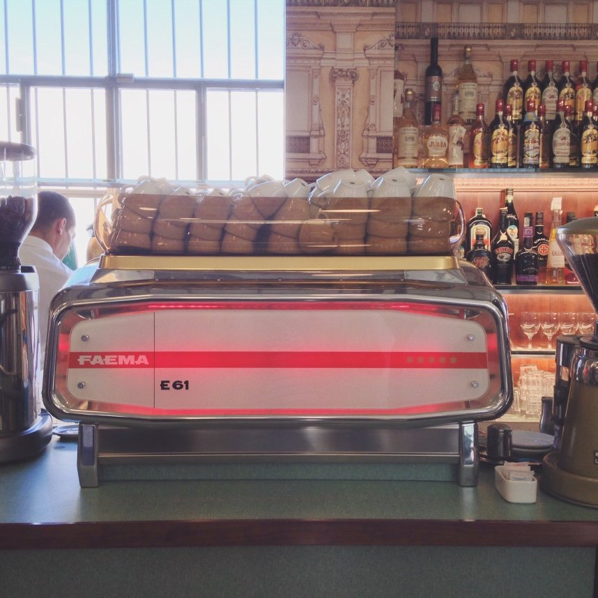 INGRIDESIGN @ wes anderson's bar luce coffee machine