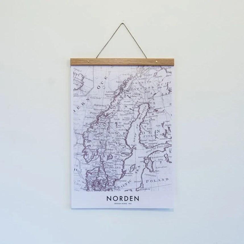NORDEN MAP POSTER