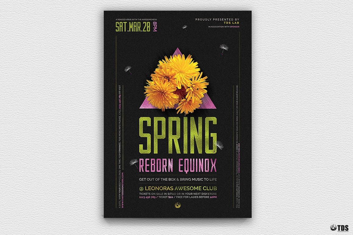 Photoshop 6 Spring Equinox Flyer Template V6