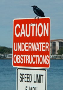 Caution Underwater Obstructions