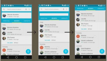 Material Design - Quick setting - Top 10 Features of Android L