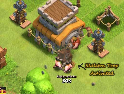 Skeleton-trap-springing-up clash of clans