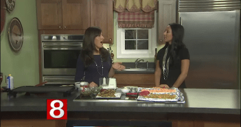 Rosemary Sweet Potato Quesadillas with Spiced Pumpkin Seed Pesto *As Seen On CT Style News 8*