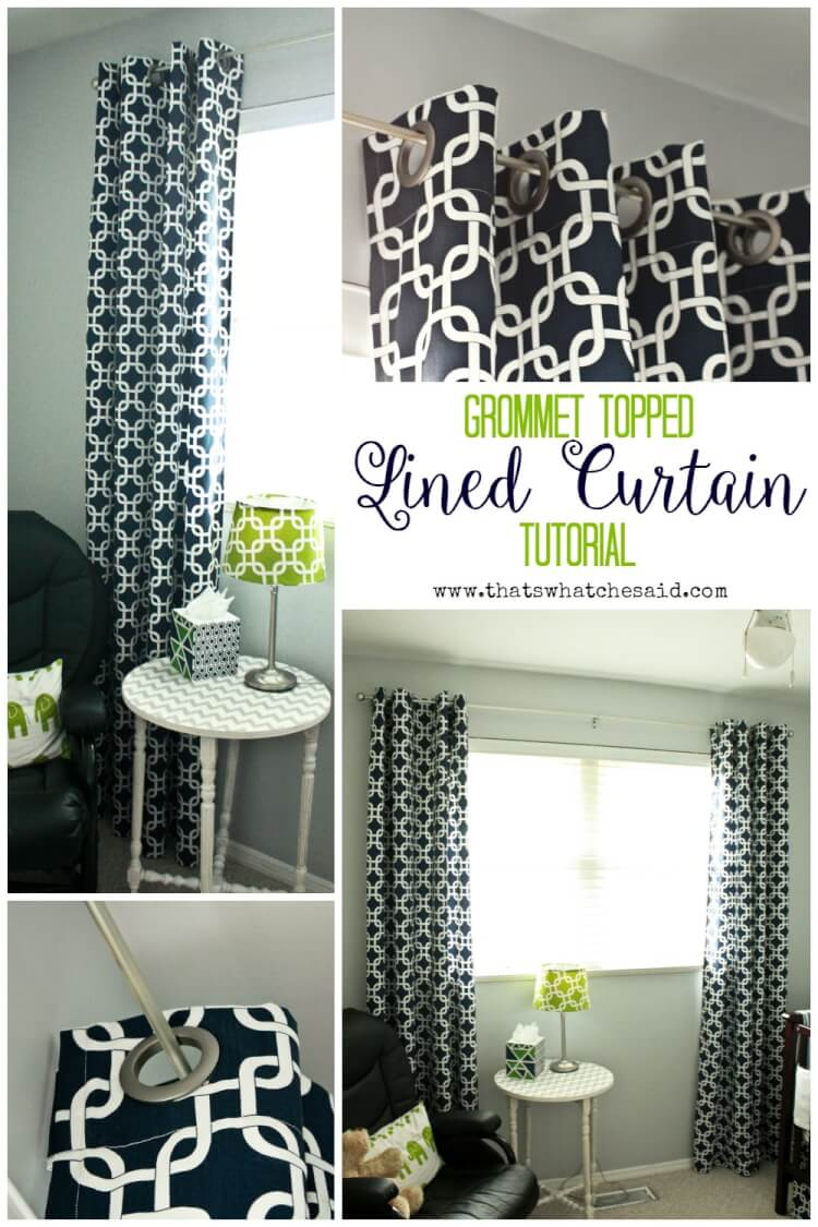 How To Make Lined Curtain Panels Diy Lined Grommet Top Curtain Panels That S What Che Said