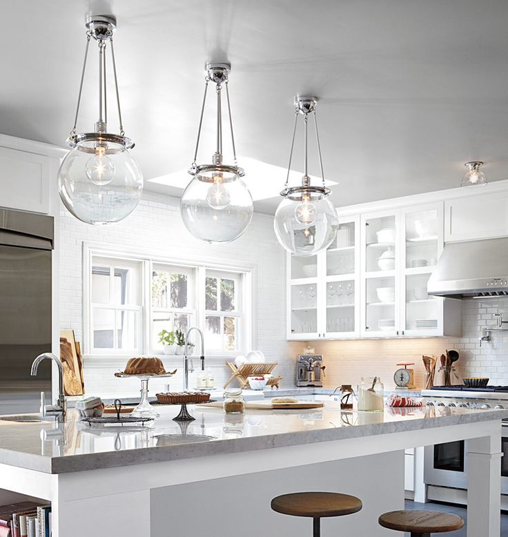 Kitchen Island Lights Fixtures Pendant Lights For A Kitchen Island | Thayer & Reed