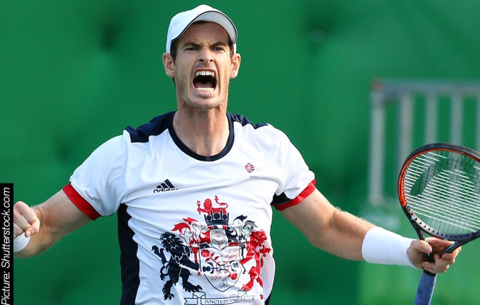 Andy Murray, set for the Centre Court today