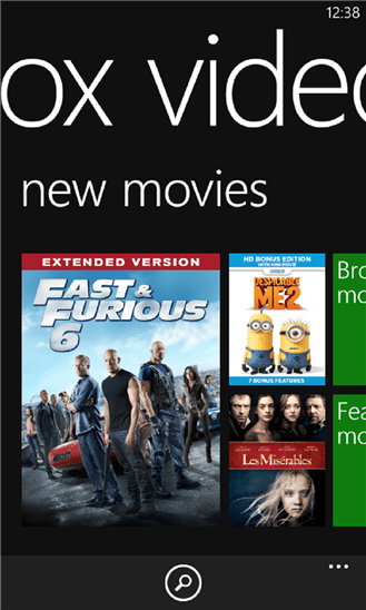 xbox video for windows phone