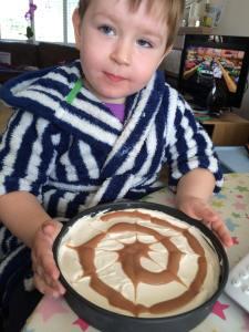 swirly whirly cheesecake