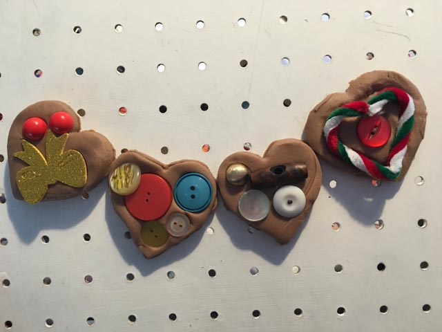 gingerbread play dough hearts