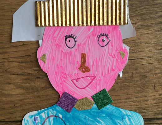 kids portrait of the Queen