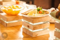 Dinnerware design for a trendy food presentation.