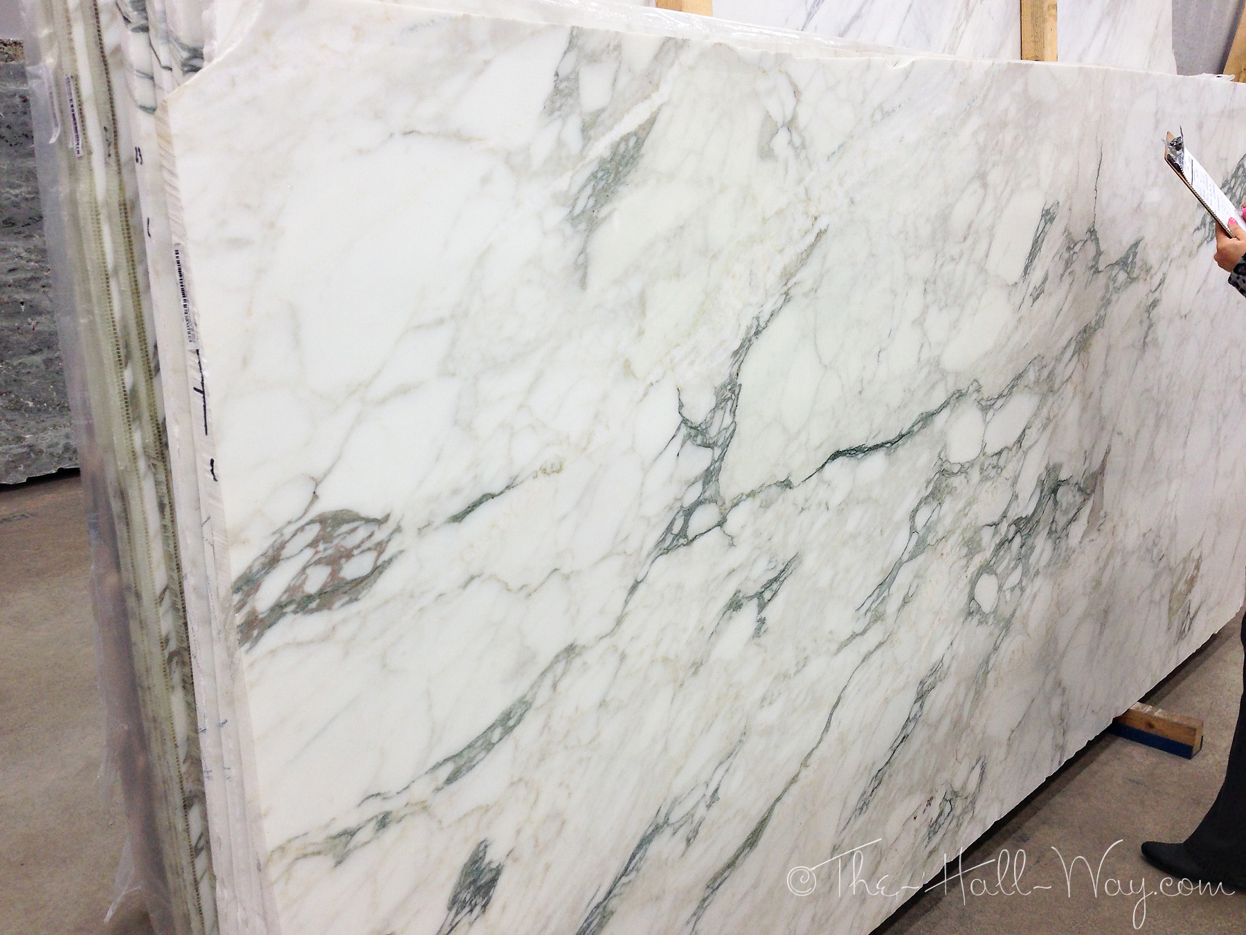 White And Grey Marble More Options The Hall Way